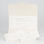 """Einladungskarten """"50"""" – Gestaltungsbeispiel Einsteckkarten – die Ornamente sind bereits vorgedruckt"""