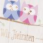"""Einladungskarten """"Eulen"""" - Detailansicht"""