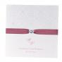 """Elegante Hochzeitseinladungen """"Altrosa"""" mit festlichem Zierband und exquisitem Strassstein sowie edler Folienprägung"""