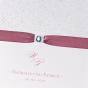 """Elegante Hochzeitseinladungen """"Altrosa"""" - Detailansicht"""