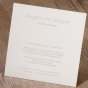 Elegante Einladungskarte - Gestaltungsbeispiel Karteninnenseite
