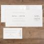 Elegante Hochzeitseinladungen - Gestaltungsbeispiel Karteninnenseiten
