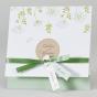 Elegante Hochzeitskarten mit hübschem Blumenmotiv