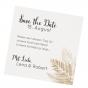 Elegante Save the Date Karten mit trendigem Farn-Motiv