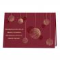 """Elegante Weihnachtskarten """"Rot"""" mit edler Folienprägung"""