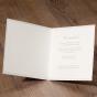 Exklusive Hochzeitskarten - Gestaltungsbeispiel Karteninnenseiten
