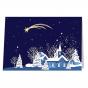 Exklusive Weihnachtskarte mit edler Goldfolienprägung
