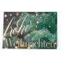 Festliche Weihnachtskarten mit weihnachtlichem Tannenzweig und glanzvollen Akzenten in Goldfolienprägung