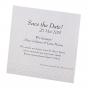Festliche Save the Date Karten aus modernem Aquarellkarton mit effektvoller Reliefstanzung