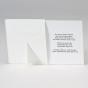 Foto Dankeskarten - Gestaltungsbeispiel Kartenrückseite