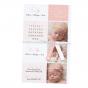 """Moderne Geburtskarten """"Zwillinge"""" im edlen Design"""