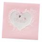 "Geburtskarten ""Rosa"" auf edlem Metallickarton & Flockprint"