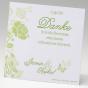 Grüne Dankeskarten - Gestaltungsbeispiel