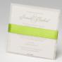 Grüne Hochzeitseinladungen - Ansicht Kartenrückseite
