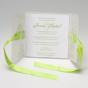 Grüne Hochzeitseinladungen - Gestaltungsbespiel Karteninnenseite