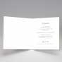 Handgeschöpfte Hochzeitseinladungen - Gestaltungsbeispiel Karteninnenansicht