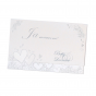 Hochzeitsbrief auf schimmerndem Metallickarton mit edler Folienprägung