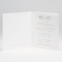 """Hochzeitseinladung """"Goldene Eleganz"""" - Gestaltungsbeispiel Karteninnenseiten"""