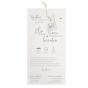 """Hochzeitseinladung """"Schmetterling"""" - Gestaltungsbeispiel Karteninnenseite"""
