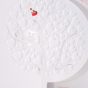 """Hochzeitseinladungen """"Eule"""" - Detailansicht Blindprägung und Folienprägungen"""