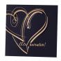 """Hochzeitseinladungen """"Nachtblau"""" mit exquisiter Goldfolienprägung"""