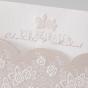 """Hochzeitseinladungen """"Romantisch"""" - Detailansicht Blindprägungen  Blumenornamente"""
