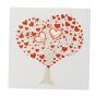 Hochzeitseinladungen mit zwei raffinierten Stanzungen in Herzform