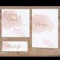 """Hochzeitseinladungen """"Altrosa"""" - mögliches Kartenzubehör"""