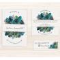 """Hochzeitseinladungen """"Grün & Blau"""" - Mögliches Kartenzubehör"""