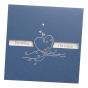 """Hochzeitseinladungen """"Kobaldblau"""" mit edler Silberfolienprägung"""