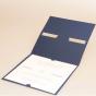 """Hochzeitseinladungen """"Kobaldblau"""" - Gestaltungsbeispiel Karteninnenseite"""