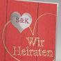 """Hochzeitseinladungen """"Rot"""" - Detailansicht"""