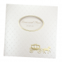 """Hochzeitskarte """"Märchenhochzeit"""" mit edler Goldfolien- und Reliefprägung"""