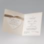 Hochzeitskarten  mit edler Zierschleife - Gestaltungsbeispiel Karteninnenseiten