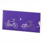 """Edle hochzeitskarten """"Fahrrad"""" mit edler Silberfolienprägung"""