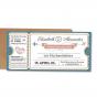 """Hochzeitskarten """"Flugticket - Hochzeitsreise"""" - Gestaltungsbeispiel Ticket"""