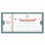 """Hochzeitskarten """"Flugticket - Hochzeitsreise"""" - Ticketansicht ohne persönlichem Texteindruck"""