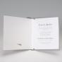 """Klassische Hochzeitseinladungen """"Silbergrau"""" - Gestaltungsbeispiel Einlegeblatt Karteninnenseite"""