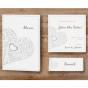"""Klassische Hochzeitseinladungen """"Silbergrau"""" - Weitere Karten aus diesem Set"""