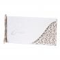 Klassische Hochzeitskarten mit bezaubernder Ornamentstanzung und zarter Zierschleife