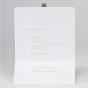 Klassische Hochzeitseinladung - Karteninnenansicht