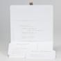 Klassische Hochzeitseinladung - Gestaltungsbeispiel Karteninnenseite mit verschiedenen Einsteckkärtchen