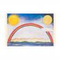 """Kommunionbildchen / Heiligenbildchen """"Regenbogen"""" im farbenfrohen Design"""