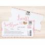 Kreative Hochzeitseinladung VIP-Ticket mit herausziehbarem Einleger für Ihre Hochzeitsinfos