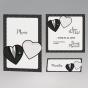 """Tischkarten, Menükarten & Save the Date Karten - auch als Dankkarte zu gestalten - aus dem Set """"Brautpaar"""""""