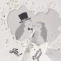 """Lustige Hochzeitseinladungen """"Eulenpaar"""" - Detailansicht"""