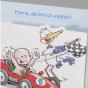 """Lustige Babykarten """"Rennauto"""" - Detailansicht"""