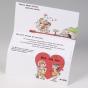 """Lustige Hochzeitskarten """"Steinzeit"""" - Gestaltungsbeispiel Karteninnenseiten (aufgeklappte Karte)"""