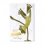 """Lustige Neujahrskarten """"Balance"""" mit edler Goldfolienprägung"""