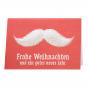 """Lustige Weihnachtskarten """"Schnurrbart"""" mit trendiger Blindprägung"""